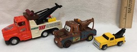 Tow Trucks Toys Kintoy Disney Pixar Mater Die Cast Metal & Plastic Lot of 3 - $8.90