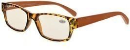 Eyekepper Spring Hinges Wood Arms Computer Reading Glasses Men Women Amber - $43.43