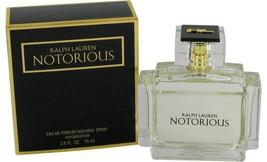 Notorious Perfume  By Ralph Lauren for Women 2.5 oz Eau De Parfum Spray - $84.65