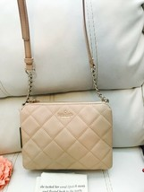Nwt Kate Spade Harbor Cashew Emerson Place Quilted Leather Shoulder Xbody Bag - $173.25