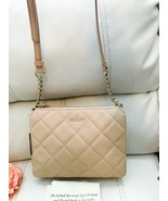 NWT KATE SPADE HARBOR CASHEW EMERSON PLACE QUILTED LEATHER SHOULDER XBOD... - $173.25