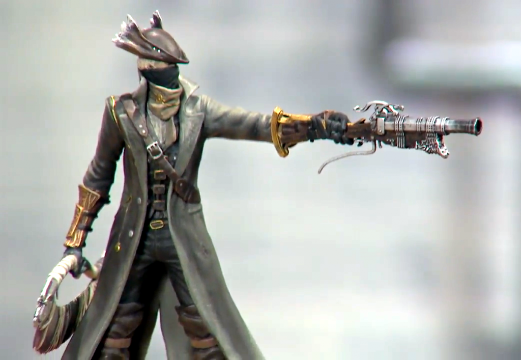 Modern Icons #5 Bloodborne Hunter Statue Figure PVC Playstation Official