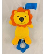 Carter's Child of Mine Orange Lion Rattle Plush Teether Stuffed Animal - $7.35