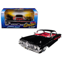 1961 Chevrolet Impala Black Lowrider Series Street Low 1/24 Diecast Model Car by - $32.11