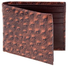 Lord West Men's Exotic Bi-Fold Leather Wallets with Flipout ID and Coin ... - $12.26