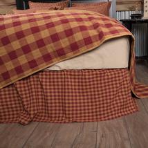 Burgundy Check - Farmhouse Bed Skirt - VHC Brands