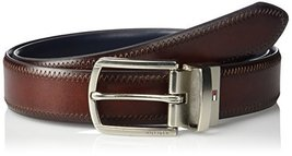 Tommy Hilfiger Men's Reversible Belt, brown/blue, 34