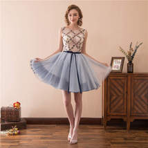 Women's Short Tulle Beading Homecoming Dresses 2018 Prom Party Gowns Sho... - $95.99