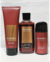 3 Pc. Bath & Body Works BOURBON Trio Body Wash Deodorizing Spray & Body ... - $37.11