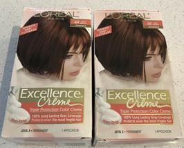 (2) Old Formula Nib L'oreal 6R Light Auburn (Warmer) Excellence Creme Hair Dye - $24.75