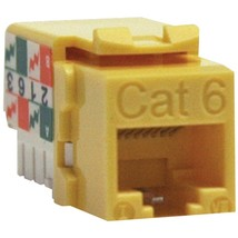Tripp Lite N238-001-YW CAT-6/CAT-5E 110-Style Punch-down Keystone Jack (Yellow) - $19.44