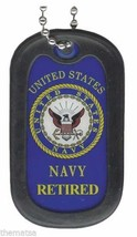 NAVY RETIRED  ENGRAVABLE MILITARY WAR DOG TAG - $18.04