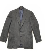 Vintage Brooks Brothers Grey Blue Tweed Blazer Men's 41R Two Button Suit... - $45.42