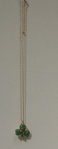 Roman inc 61169 Gold Colored Chain Green Shamrock Wrapped in Blessings Necklace