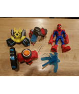 Spider-Man Marvel Playskool Heroes Action Gear Copter Jetpack Climb CMPL... - $15.99