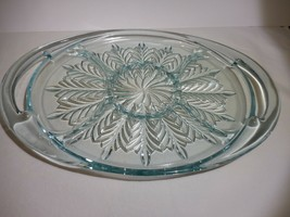 Jeannette Glass Feather Blue 5 Part Divided Relish Tray Serving Dish - $28.99