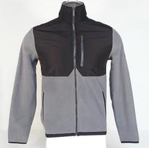 Calvin Klein Gray & Black Zip Front Fleece Jacket Men's NWT - $82.49