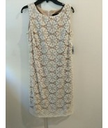 RN Studio Ivory Lace Overlay Dress Nude Lining Size 4 New With Tags - $24.74