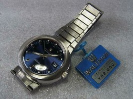 Waltham Jubilee 1970s automatic Navy dial 39mm watch with waltham box - $866.24