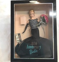 1999 MATTEL 40TH ANNIVERSARY BARBIE Doll COLLECTOR EDITION 21384 NIB - $29.02