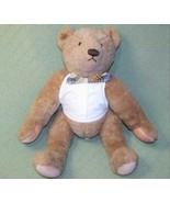 "18"" Vintage Gund BIALOSKY TEDDY BEAR Jointed Tan Stuffed Tuxedo Shirt Bo... - $19.80"
