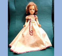 "1930s? antique 18"" MADAME MME ALEXANDER COMPOSITION DOLL sequin dress - $224.95"