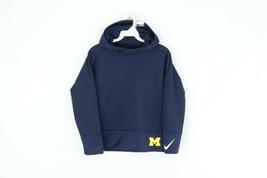 New Nike Girls Large University of Michigan Double Fleece Pullover Hoodi... - $44.50