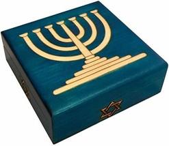 MilmaArtGift Star of David Wooden Box Handmade Judaica Keepsake Polish Linden Wo - $29.69