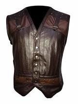 Men Holden Lost Girl Dyson Designer Brown Leather Vest image 1