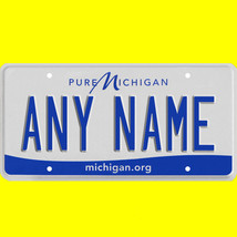 1/43-1/5 scale custom license plates any brand RC/model car - Michigan tag - $11.00