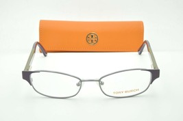 Tory Burch TY 1037 3004 Purple Silver Eyeglasses Clear lenses + Case 50mm - $56.95