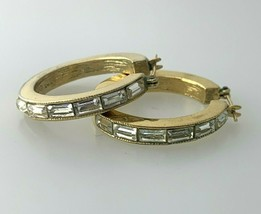 Napier Gold-Tone Medium Crystal Hoop Earrings   #2 - $12.86