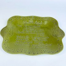 Avocado Green Porcelain Ceramic Chicken Salad Serving Dish Platter Calif... - $44.55