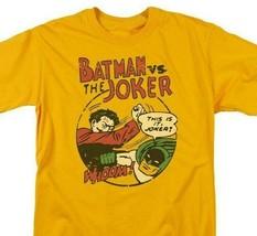 Bat Man Joker T-shirt retro 70s 80s comic book cartoon DC superhero tee DCO754 image 1