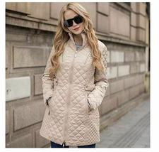 Ladies Long Quilted Jacket Outerwear Winter Coat  Medium image 5