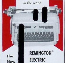 Vintage Remington Typewriter Electric Typing Correction Plastic Card Adv... - $12.99