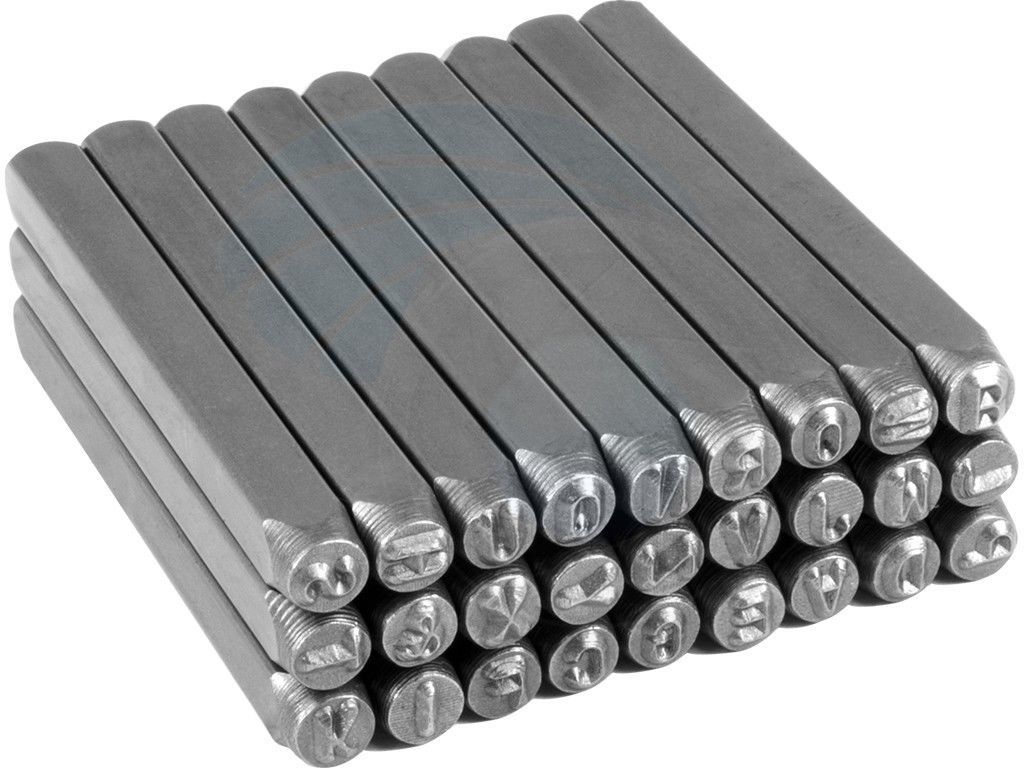 Steel Punch Stamp Die Set Metal Tool Letters (A-Z) 27-Piece Set 3mm