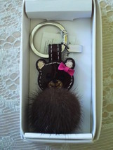 NWT/COACH/MINK BROWN BEAR/KEY FOB/KEY CHAIN/KEY RING/61913 - $60.00