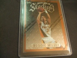 1996-97 Topps Finest w/peel #30  Reggie Miller -Indiana Pacers- - $3.12