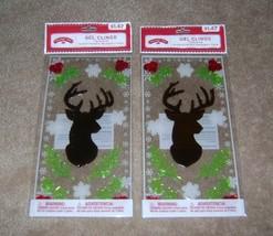 Holiday Time Deer Theme Gel Clings (2 Packs) - $3.50