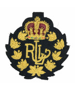 "Ralph Lauren RLL Gold Black Logo Crown Crested 3"" Sew on Blazer Patch Vi... - $33.90"