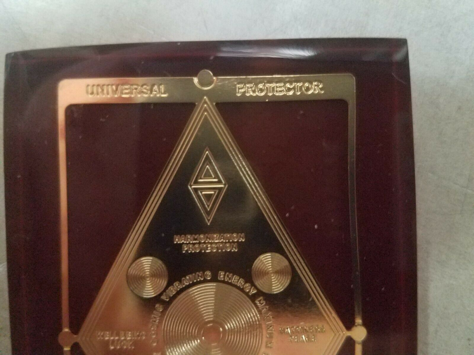 Harmonization Universal Protector Talisman in Lucite Charm Healing Reiki image 2