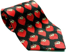 Looney Tunes Tazmanian Valentines Red Heart Love Men's Tie All Over Print - $12.75