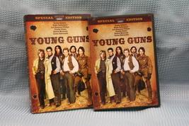 YOUNG GUNS DVD WITH SLIPCOVER EMILIO ESTEVEZ CHARLIE SHEEN KIEFER SUTHER... - $7.43