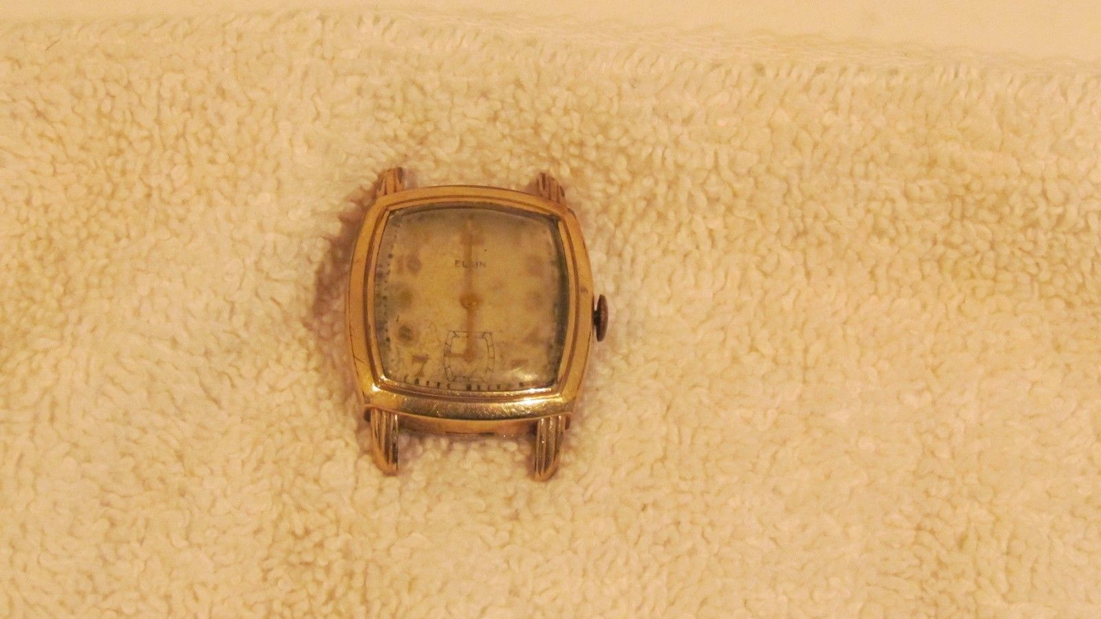 Vintage Elgin DeLuxe 10K Gold Filled Winding Second Dial Watch - needs refurbish