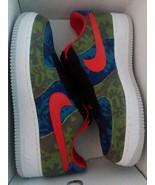 Nike Air Force 1 Custom Made Design illusion camo Green Blue Orange Low ... - $119.99