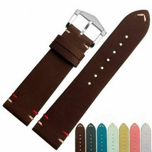 Unisex Vintage Watch Band Leather Brown Green Yellow Pink Yellow Strap 2... - $20.89