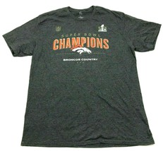 NFL Denver Broncos Shirt Size Extra Large XL Gray Orange Super Bowl 50 C... - $17.83