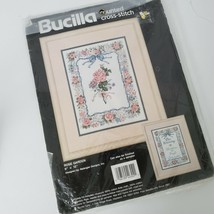 Bucilla Rose Garden Sampler Picture Counted Cross Stitch Kit 40302 By Ba... - $24.75