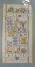 Welcome Sampler Sealed Counted Cross Stitch Kit 10x20 Dimensions 1988 - $17.95